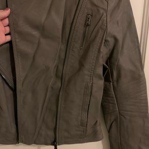 Jackets & Coats - Faux Leather Moto Jacket